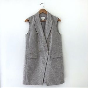 Club Monaco Blazer Flannel Gray Vest Button Selska